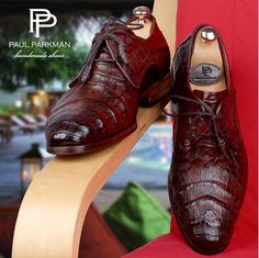 Handmade Men's Shoes by PAUL PARKMAN: Handmade mens crocodile shoes