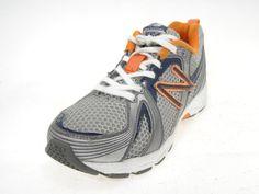 New Balance 554 Running Shoes, #KJ554GBY, Grey/Blue/Org,  Size (Youth)13W #NewBalance