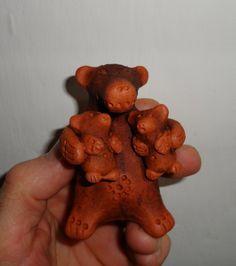 медведь и медвежата , свистулька $20