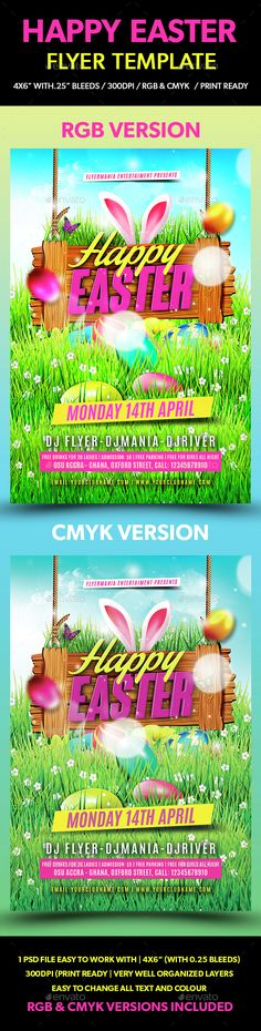 Easter Bash Flyer Template - Party Flyer Templates For Clubs - easter flyer template