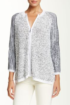 Catherine Catherine Malandrino - Angel Zip Sweater at Nordstrom Rack. Free Shipping on orders over $100.