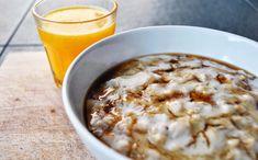 true taste hunters - kuchnia wegańska: Owsianka na mleku sojowym w towarzystwie banana i miodu gryczanego