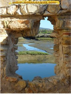 Ruinas da Ria Formosa, Praia do Trocado, Olhão Algarve Portugal at zonalgarve.com gps Lat 37.0363 Lon 7.7952
