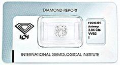 Foto 1, 2,047 IGI-Zertifikat Zweikaräter Super-Qualität Diamond, D5454