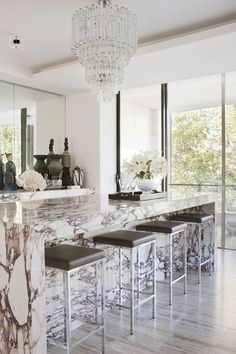 Gorgeous marble kitchen island