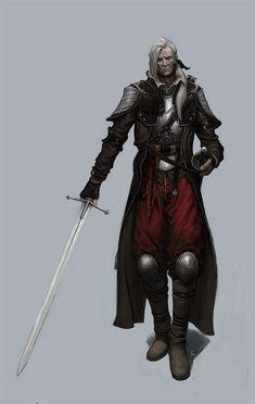 Half Drow Swordsman