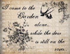 Antique Christian Hymn I Come to the Garden