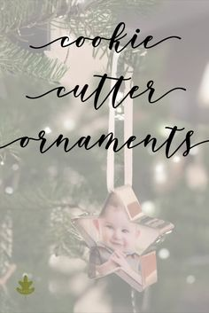 These cookie cutter ornaments are an easy and thoughtful Christmas craft for the holiday tree Diy Cookie Cutter, Christmas Cookie Cutters, Diy Christmas Ornaments, Christmas Fun, Christmas Decorations, Holiday Tree, Holiday Crafts, Photo Ornaments, Natural Christmas