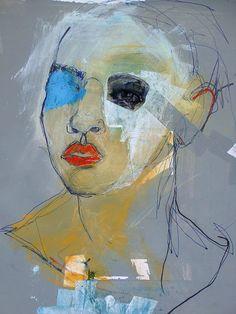 L'art Du Portrait, Abstract Portrait, Watercolor Portraits, Watercolor Art, Contemporary Portrait Artists, Modern Art, Contemporary Art, Art Du Croquis, Art Visage