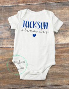 Custom Baby Onesies, Baby Boy Shirts, Newborn Onesies, Boy Onesie, Baby Girl Names, Baby Boy Newborn, Baby Bodysuit, Boy Names, Baby Baby