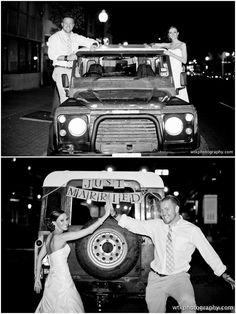 Land Rover Defender Wedding!