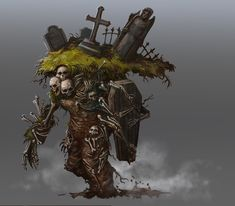 "ArtStation - Lord of the Grave, Vorrarit ""BANG"" Pornkerd Cool Monsters, Dnd Monsters, Monster Concept Art, Monster Art, Creature Concept Art, Creature Design, Horror, Fantasy Beasts, D&d Dungeons And Dragons"