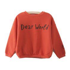 """Sudadera roja """"Dear World"""" Bobo Choses"""
