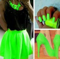 Vestidos cortos colores fosforescentes