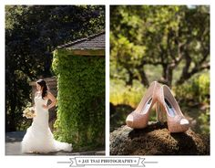 Wedding Shoes and Gown