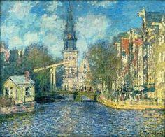 Claude Monet - 1874 - zuiderkerk-in-amsterdam