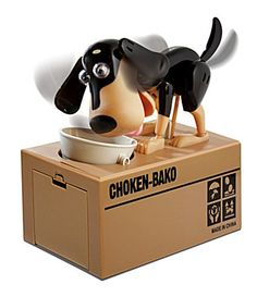 Hungry Dog Coin Bank: Gobbles your spare change! $25 #Dog_Bank