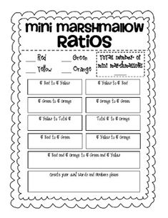 Free Ratio Tables Task Cards for Ratios and Proportions