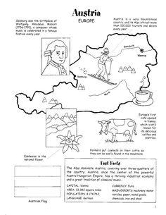 Archivo de álbumes Geography Worksheets, Geography Lessons, Teaching Geography, World Geography, School Worksheets, School Resources, Cultural Studies, Social Studies, Austria Map
