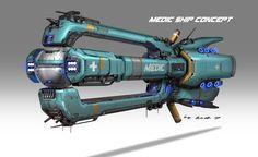 ArtStation - Medic ship concept, Rock D