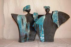 Risultati immagini per raku stoken keramiek Raku Pottery, Pottery Sculpture, Slab Pottery, Sculptures Céramiques, Sculpture Art, African American Artwork, Ceramic Mask, Caribbean Art, Ceramic Figures