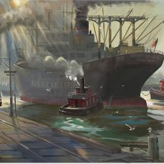 ArtStation - Burningraph * Photoshop, Les Oeuvres, Boat, Artwork, Painting, Drawing Drawing, Dinghy, Work Of Art, Auguste Rodin Artwork