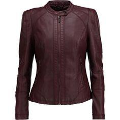 Morgan GOTALA Kurtka ze skóry ekologicznej bordeaux Bordeaux, Leather Jacket, Boho, Jackets, Fashion, Studded Leather Jacket, Down Jackets, Moda, Leather Jackets