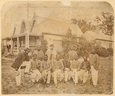 Aboriginal cricketers alongside the Melbourne Cricket Ground Pavilion, c.1867 | Flickr - Photo Sharing!