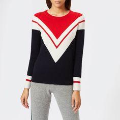 a20adecf23510e Madeleine Thompson Women's Eris Knit Jumper - Navy/Red/Cream