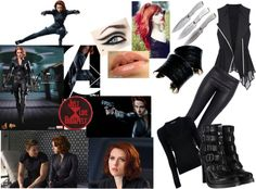"""The Black Widow (Natasha Romanoff)"" by shelley97 ❤ liked on Polyvore"