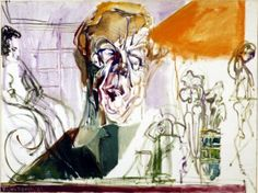 The artist Feliks Topolski painted portraits of 20 great writers for the Harry Ransom Center in the The authors were not amiable. Day Lewis, Portrait Photo, Gallery, Frost, Paintings, Artists, Fictional Characters, Mathematical Model, Queen Of England