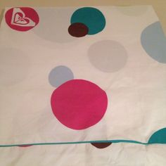 Roxy Fabric Shower Curtain Dots Surfer Girl Girls Womens #Roxy