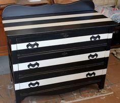 my striped dresser