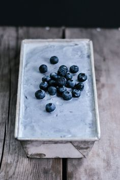 Blueberry Vanilla Bean Ice Cream