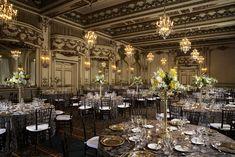 Banquet, Fairmont Hotel San Francisco, String Lights, Ceiling Lights, Gold Rooms, Landmark Hotel, Type Setting, Bride Gifts, Front Desk
