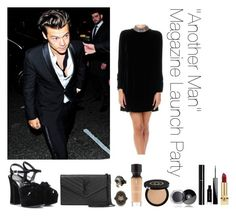 """""""""""Another Man"""" Magazine Launch Party"""" by thetrendpear-eleanor ❤ liked on Polyvore featuring Yves Saint Laurent, Gucci, Chanel, Givenchy and Roberto Cavalli"""