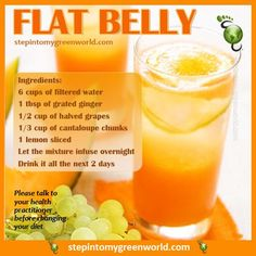 Burn Fat with this Detoxification Trick - ☛ A delicious and simple flat belly water recipe. FOR ALL THE DETAILS: www. Healthy Juice Recipes, Healthy Juices, Healthy Smoothies, Healthy Drinks, Healthy Eating, Diet Recipes, Flat Belly Drinks, Flat Belly Diet, Smoothie Proteine