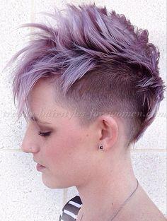 undercut hairstyles for women - faux hawk undercut hairstyle
