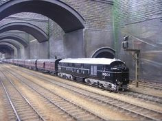 John Holden's Liverpool Lime Street Station - wonderful Train Car, Train Tracks, Steam Trains Uk, Garden Railroad, Steam Railway, Bonde, British Rail, Old Trains, Train Pictures