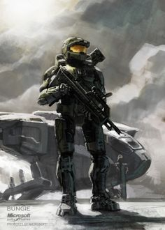 Master Chief - HALO - Isaac Hannaford  Sometimes I forget that he's like, 7 feet tall