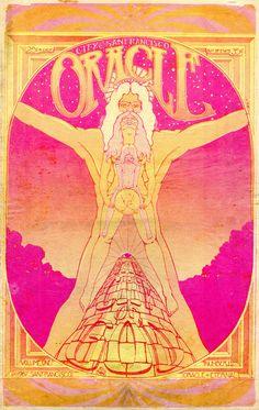 ☯☮ॐ American Hippie Bohemian Psychedelic Art ~ San Francisco Oracle 1967