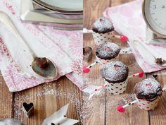 herzliche Valentinsmuffins mit Amorpfeilen