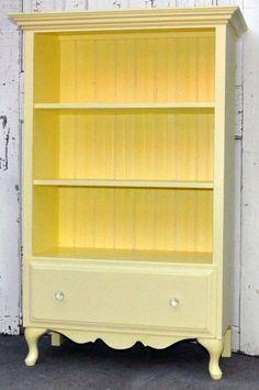 repurpose dresser into a bookcase