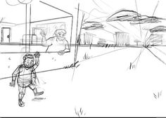 Penciled a panel for the second issue of my webcomic Penelope & Monica on my surfacepro3 in clipstudiopaint.
