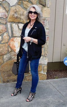 Fashion and lifestyle blog for women. The second fifty years are the best! Sixties Fashion, 50 Fashion, Latest Fashion Trends, Plus Size Fashion, Fashion Outfits, Style Fashion, Fashion Boots, Fashion Brands, Funky Fashion