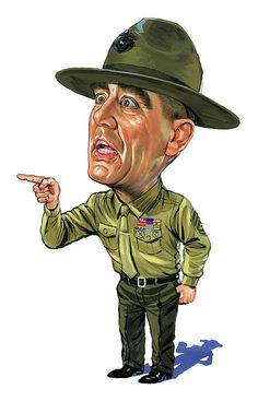 8327dbadcc4 R. Lee Ermey As Gunnery Sergeant Hartman Print by Art Celebs