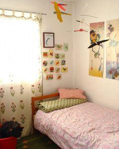 Children's room little girl, lovely curtains