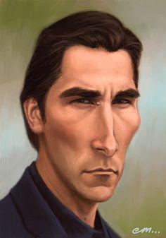 Christian Bale  Artist: Euan Mactavish  website: http://paper-pencil-pixels.blogspot.com/