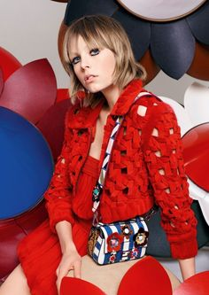 Campaign: Fendi Spring Summer 2016 Vanessa Moody, Edie Campbell by Karl Lagerfeld | http://www.theglampepper.com/2016/01/14/14260/