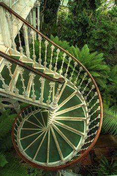 spiral stairs at Kew Gardens, England